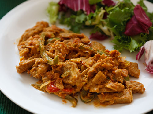 "Curried peanut ""chicken"""